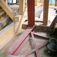 Der komplette Stahlbau musste von SÜLZLE Hagmeyer überwiegend anhand von 1:1 Schablonen aufgemessen und zusammengebaut werden